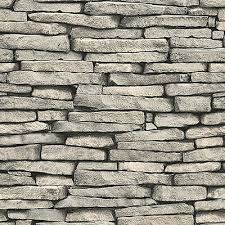 stone grey brick wallpaper roll wall