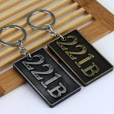 arrival hot moive detective sherlock holmes keychain baker street house number 221b logo alloy key ring for fans gifts on aliexpress alibaba group