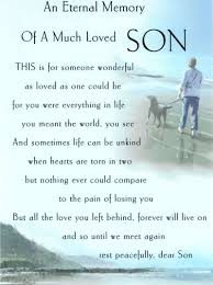 Loss Of A Son Quotes Best 48 Quotes On Loss Of Son That Will Touch Your Heart EnkiQuotes