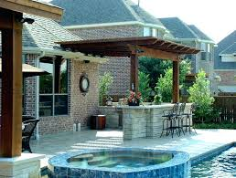 backyard pool and outdoor kitchen designs. Interesting Designs Outdoor Kitchen With Pool Backyard  In Backyard Pool And Outdoor Kitchen Designs