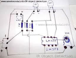 infrared ir object detection module circuit using ir led and ir led and photo diode ir object detection circuit diagram object detection infrared