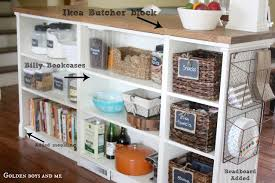 diy bookcase kitchen island. ikea kitchen island hack with billy bookshelves and bead board by www.goldenboysandme.com diy bookcase l