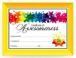Award Certificates Word Impressive Certificate Of Awesomeness PE Awards Certificates Pinterest