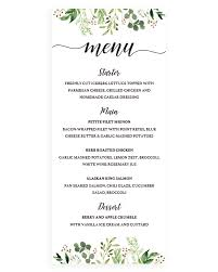 Party Menu Template 030 Dinner Party Menu Templates Gift Registry Card Template