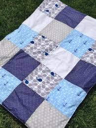 Nautical Quilt | Patchwork, Craft and Boy quilts & Baby Boy Nursery Nautical Quilt Anchor and by ScrapsOfImperfection, $40.00 Adamdwight.com