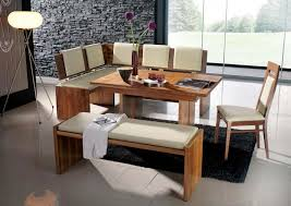 modern kitchen table with bench. White Cushioned Dining Bench L Shaped With Cushion As Back Pad A Modern Kitchen Table B