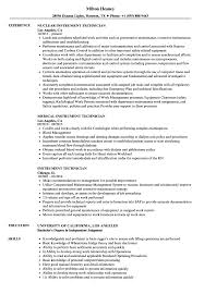 Instrument Technician Sample Resume Instrument Technician Resume Samples Velvet Jobs 4