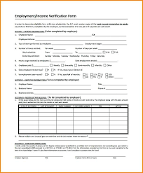 employment dates verification sample income verification letter from employer employment form