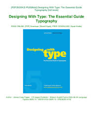 Designing With Type The Essential Guide To Typography Pdf R E A D Designing With Type The Essential Guide Typography