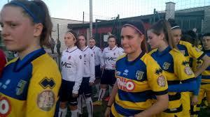 Femminile Juniores Under 19, Rec 6^ Rit: Parma-Bologna A, ingresso,  cerimoniale calcio inizio