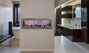 clearion see thru linear electric fireplace