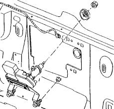 repair guides wipers & washers rear window wiper washer Rear Windshield Wiper Motor Wiring exploded view of the rear window wiper motor assembly envoy, rainier and trailblazer rear wiper motor wiring