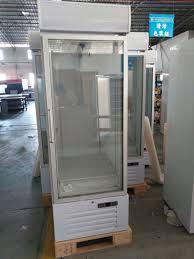 auto defrost upright glass door freezer single glass door merchandiser refrigerator