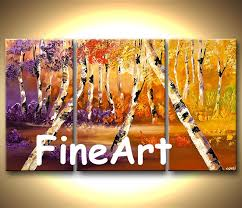 2019 large canvas panels on the wall modern art contemporary artists oil painting trees wall hanging decoration modern living room art from fineart