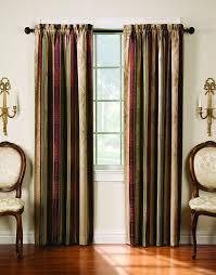 com tuscan stripe scroll stripe jacquard blackout rod pocket single panel mocha home kitchen