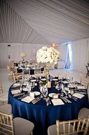 San Diego Wedding at The Crosby at Rancho Santa Fe by True Photography  Weddings. Navy Wedding CenterpiecesRound Table Decor ...