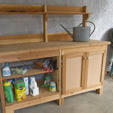 potting benches with storage merry garden potting bench with recessed storage best intended for