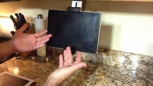 Review of Belkin Tablet Kitchen Mount for the iPad 2, Kindle Fire, Nook -  YouTube