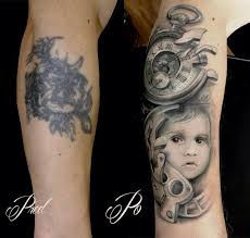 Tetování Hodiny A Portrét Tetování Tattoo