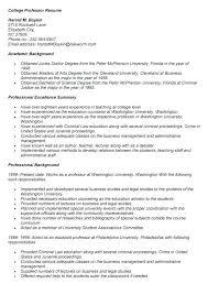 Professors Resumes Resume Samples For Assistant Professors Professor Examples Adjunct