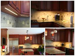 an led light strip adds dimension and functionality to this kitchen without the additional clutter of