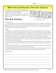 7th Grade Essay Writing Write The Conclusion Writing Activity The U S Census Essay