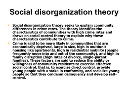 unit sociological theories of crime social disorganization theory