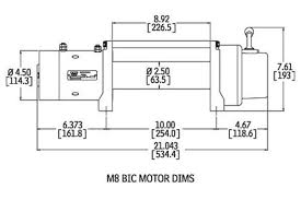 warn m8000 m8000 warn winch warn 26502 265032 warn m8000 winch metric dimensions