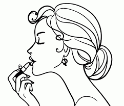 Makeup Coloring Pages Coloring Pages For Girls Makeup Humorous Page