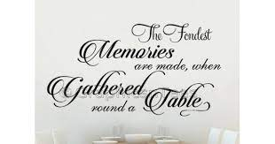 fondest memories gathered round a table