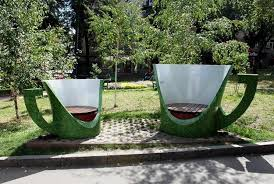 unusual garden furniture. unusual garden chairs inspired by cups furniture d