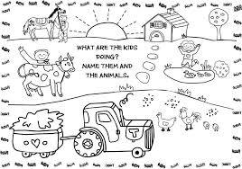 Animal Coloring Worksheets Kindergarten With Free Printable Farm