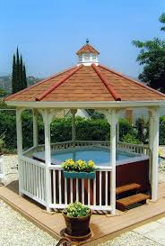 This cozy hot tub is a perfect spot for a nice soak. The gazebo around