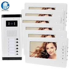 Wired Home <b>7 Inch TFT</b> Video Intercom Doorbell System <b>RFID</b> ...