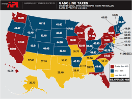 Gas Prices Usa Chart Us Tax Map