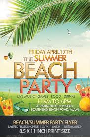 Summer Party Flyers Tropical Themed Summer Party Flyer Insaat Mcpgroup Co