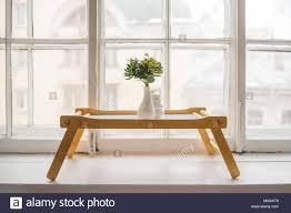 Grüne Kakteen Sukkulenten Auf Der Fensterbank Auf Holztisch Mit