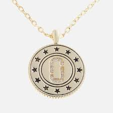 marc jacobs women s medallion double sided pendant gold image 1