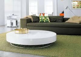 modern circular coffee table image and description