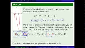 solve cubic equation with three rational roots with graphing calculator