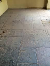 before slate tile floor cleaning sealing by desert tile