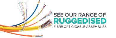 ruggedised fibre optic cable assemblies