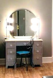 homemade makeup vanity lights diy wood rustic