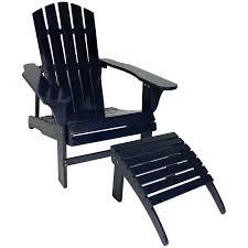 Light Blue Plastic Adirondack Chairs Sunnydaze Classic Silla De Madera Adirondack Con Otomano