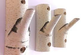 Log Coat Racks 100 рс Natural Branch Wall Hooks Rustic Wooden Coat Hooks 26