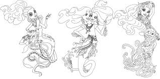 Free Printable Monster High Coloring Pages: Great Scarrier Reef ...