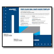 Pricing Template First Class Mail Shape Based Template Stamps Com