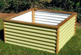 corrugated metal garden box raised bed beds plans safe for corrugated metal raised beds featured garden