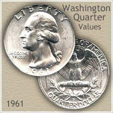1961 Half Dollar Value Chart 1961 Quarter Value Discover Their Worth