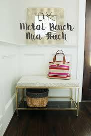 foyer furniture ikea. DIY Metal Bench Ikea Hack Foyer Furniture